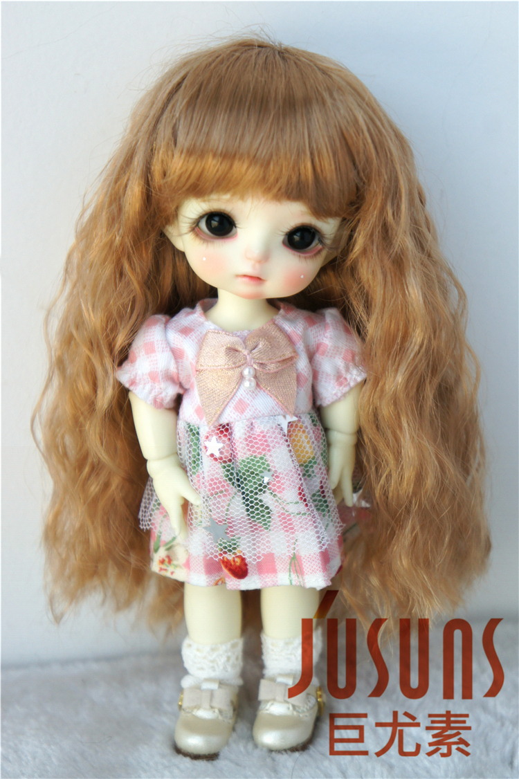Doll Wig Long Straight Snow White BJD Ball Jointed Doll Size 6-7 8-9
