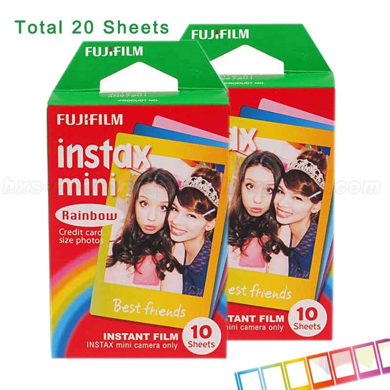 Fujifilm Instax Mini 9 Film 3 Pouces papier photo Arc-En-20 p cs pour 7 S 25 8 50 s 90 instax mini caméra et PARTAGER Smartphone Imprimante