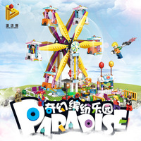 2018 Hot 724pcs Amusement Park Ferris wheel Building Block Bricks Toy Birthday Gift For Children Compatible with Legoe