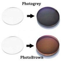Óculos fotocromático lentes óticas para miopia, lentes fotocrômicas para óculos de sol grau grau 1.56