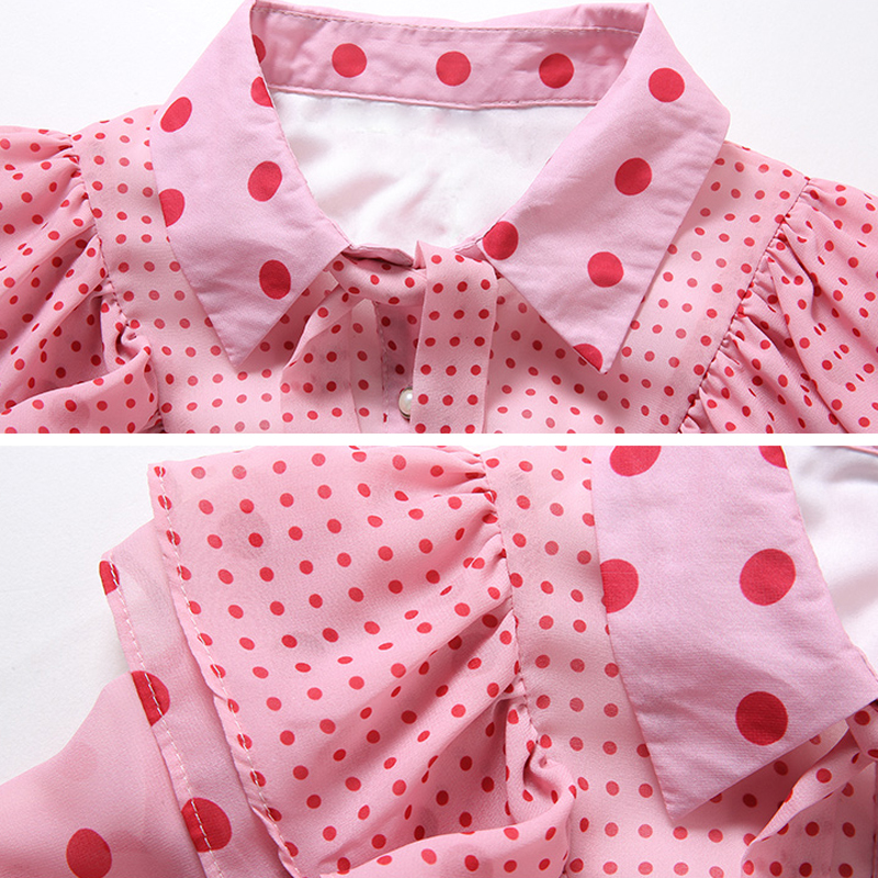 Volants Peter Dot Col Robes Femmes À Ete Rose D'été Style La 2xl Dress Pink Rg Mode Taille Femme Princesse 2018 Pan Plus Robe Imprimé n0mNwv8