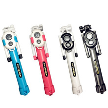 New Handheld Mini Tripod Self portrait Monopod Phone Selfie Stick Wireless Bluetooth Remote Shutter for iPhone