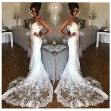 LORIE Sexy Mermaid Wedding Dress Sleeveless 2019 Vestidos de novia Informal Bridal Gown Custom Made Backless Wedding Gowns