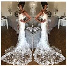 LORIE robe de mariée style sirène, sans manches, dos nu, sur mesure, 2019