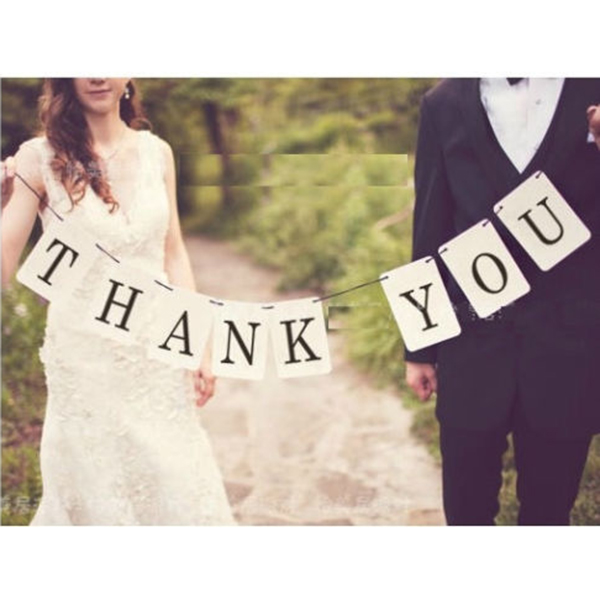 compare prices on wedding thank you photo card online shopping Wedding Thank You Bunting Uk thank you wedding card banner wedding sign married photo prop wedding engagement decoration vintage(china thank you bunting uk