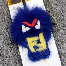 a5e28bbf49a94 Prawdziwe futro anime brelok Torba Bug Fur Pompony potwór Bag Charm  Luksusowe Moda breloki handmade Prawdziwe