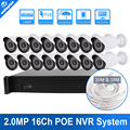 UNITOPTEK 1080P 2MP Bullet IP Camera Video Security Surveillance System 16Ch PoE NVR Recorder System Kit 16 CH PoE NVR Max 16TB
