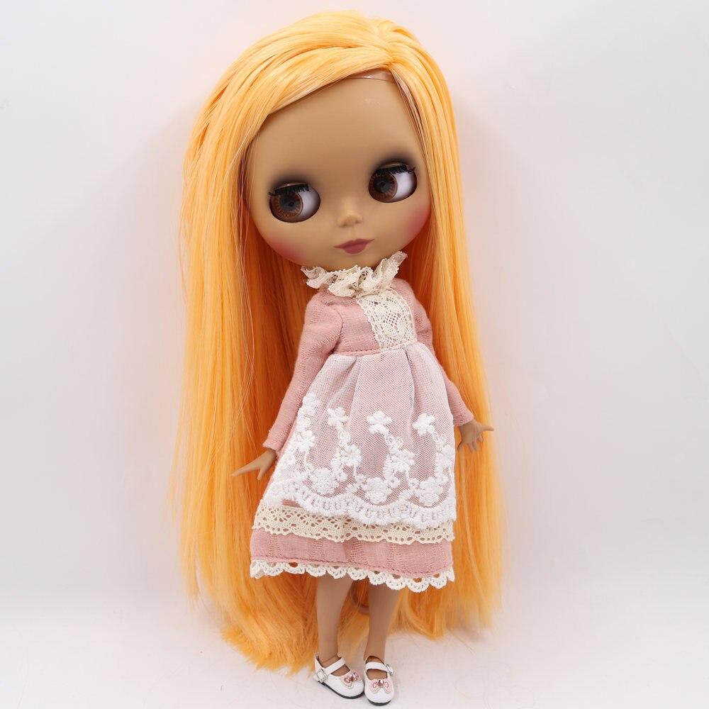 ICY Nude Blyth Puppe Keine. BL0559 Mango haar Schwarz Matt gesicht Joint körper 1/6 bjd-in Puppen aus Spielzeug und Hobbys bei  Gruppe 2