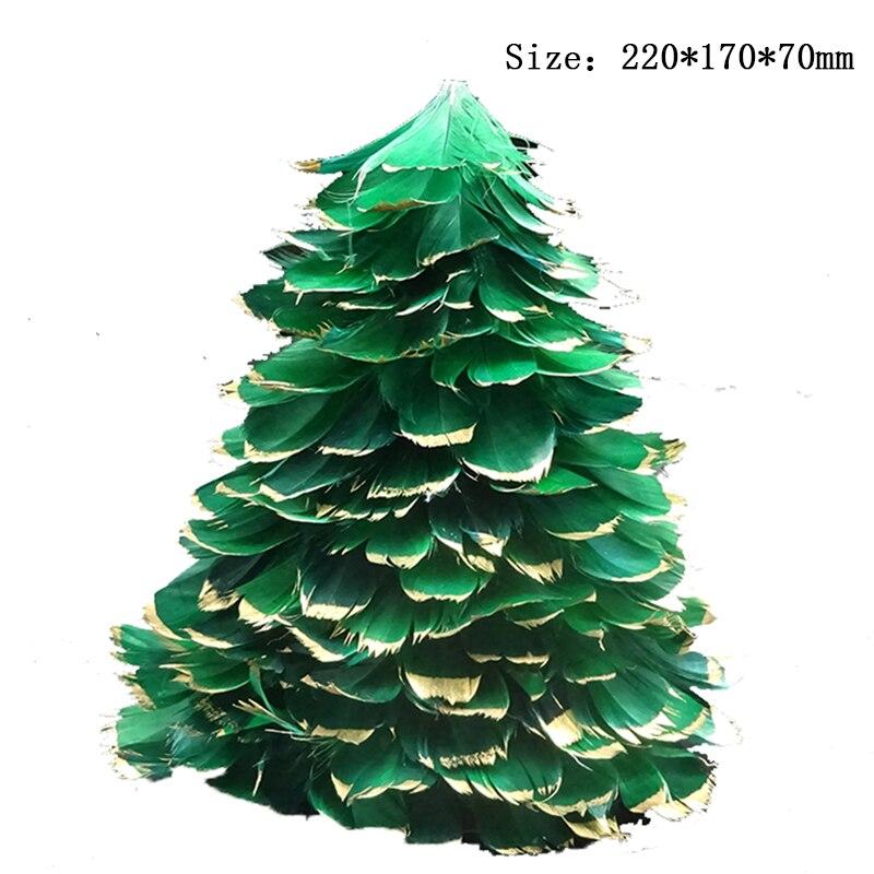 pluma de la manera del rbol de navidad de tela con paneles de madera beads partido