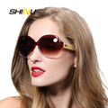 Hot Sale Wood Sunglasses Oversized Women High Quality Hand Made Bamboo Sunglasses Colorful Mirror Lens Fashion Shade 6101