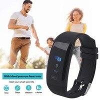 Cewaal 0.96 Pouces Bluetooth OLED Écran Tactile Podomètre Sommeil Surveillance Cadeaux Étanche Smart Bracelets Montre Bracelet