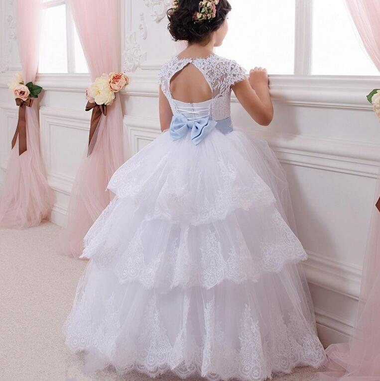 26cf72dfe967 2017 Latest Flower Girl Dresses with Bow Ball Gown Party Pageant ...