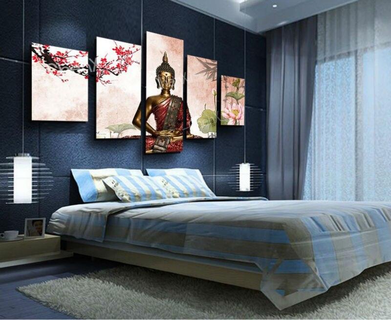 Hot panel abstract schilderen gedrukt canvas muur woondecoratie