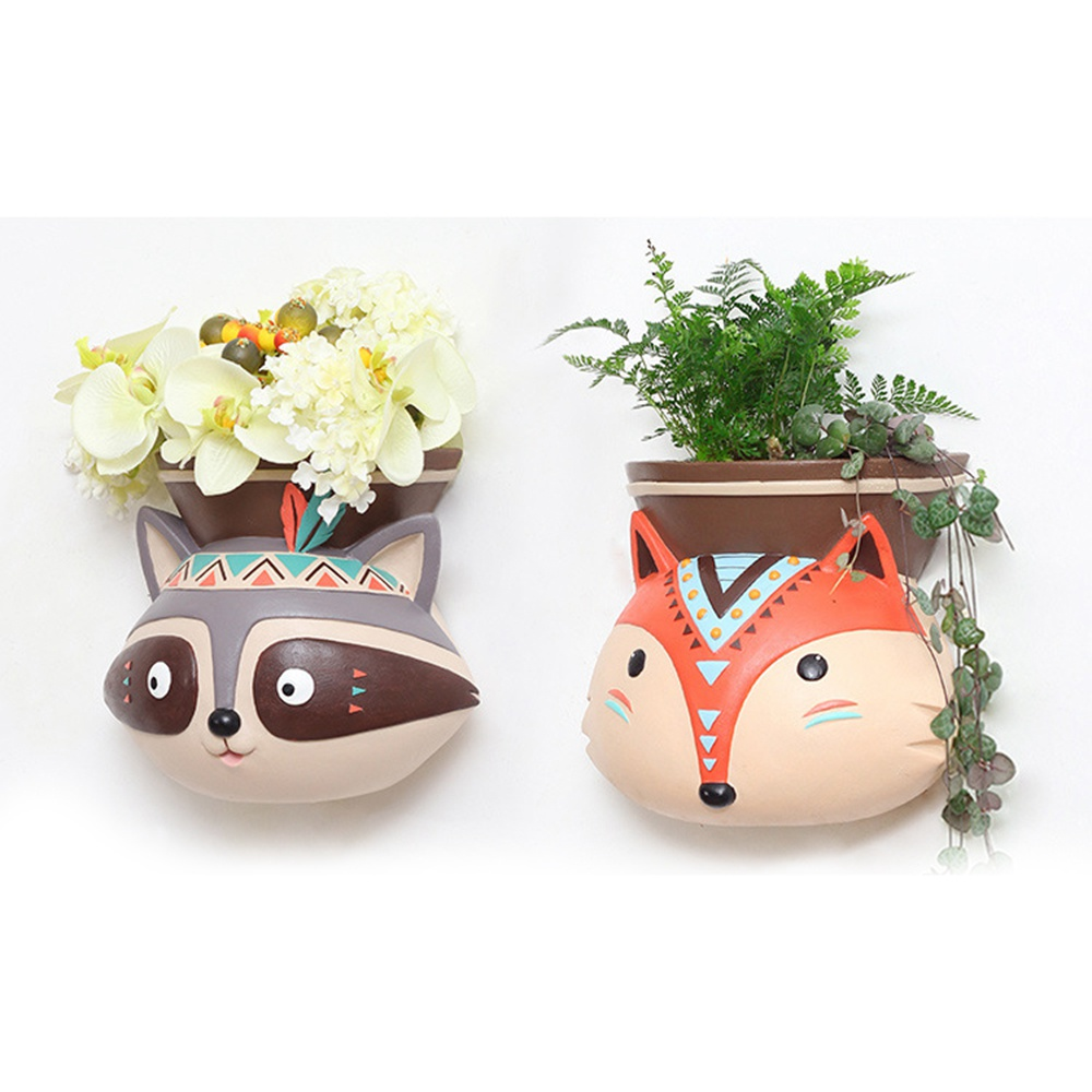 National Style Animal Flower Pots Planter Indoor Wall