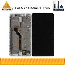"""オリジナル 5.7 """"xiaomi 5 s プラス mi 5 s プラス Mi5S プラス lcd スクリーンディスプレイ + タッチパネル用フレームとタッチスクリーンデジタイザ xiaomi mi 5 s プラス"""