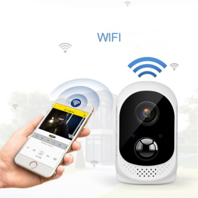 1080P Waterproof Security Battery Wifi IP CCTV Camera Wire Free Easy Installation Two Way Audio Motion Sensor ICloud Service-in Surveillance Cameras from Security & Protection