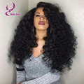 180% density curly side part wigs brazilian hair curly cheap lace front wig human hair with baby hair curly lace wigs with bang