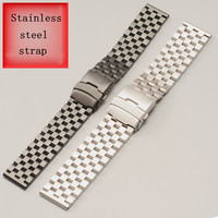 Stainless Steel Watch Band with for Panerai PAM111 PAM00112 PAM00389 Black Silver Watch Accessories