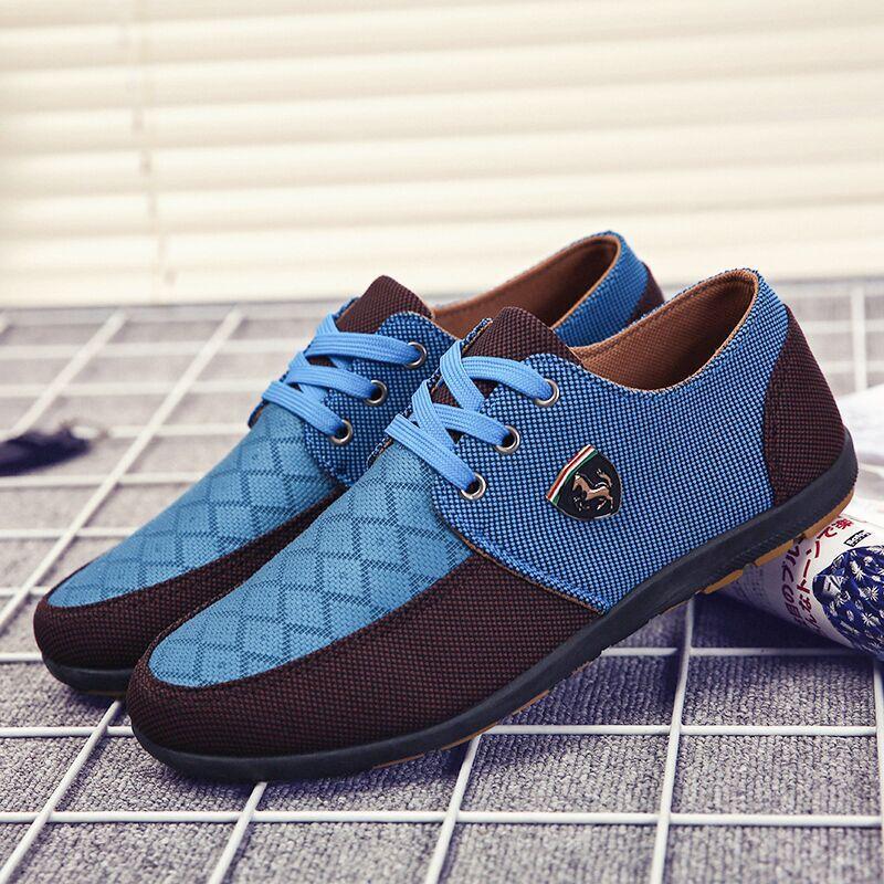 Aider Respirant automne Toile Dentelle Sneakers Lumière Nouveau De blue Mode 2018 Ipccm Blue Yellow Casual Étudiants dark Pour Printemps Bas Chaussures Hommes Les green UnvIa0
