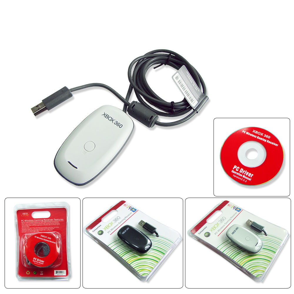 Wireless Gaming Receiver USB PC for Xbox 360 Controller