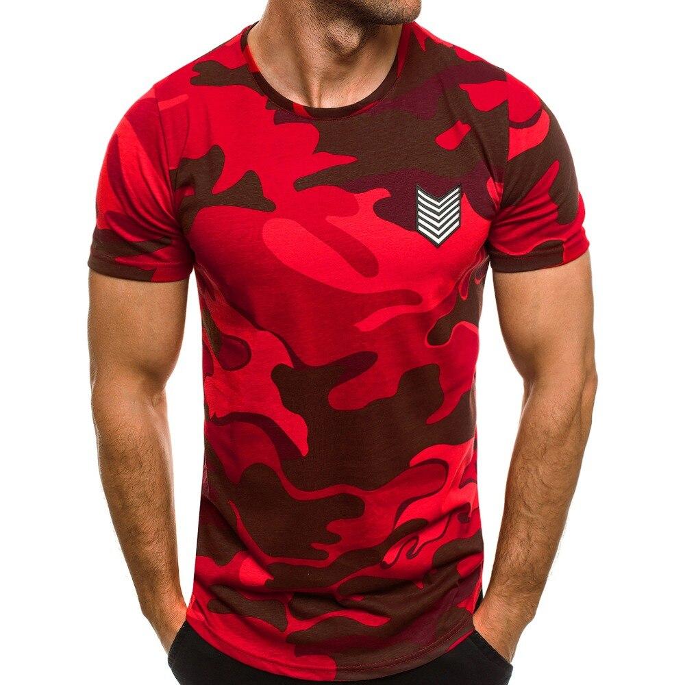 2019 летняя новая футболка мужская футболка с коротким рукавом камуфляжная футболка Homme Топы