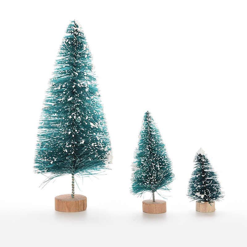 1 pc 3 tamanhos Mini Árvore de Natal Decoração Da Árvore de Natal UM Pequeno Pinheiro Para Casa Natal Colocado Na Área de Trabalho