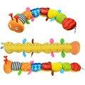 55 cm soft baby toys cosas musicales oruga con campana del anillo lindo de la historieta animal de la felpa muñeca creativa educativo temprano