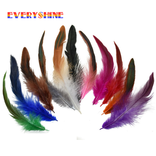 Wholesale Bulk 480pcs 12-18cm Colorful Dyed Badger Saddle Rooster Feather Hair Extension for Wedding Decoration Feathers IF002