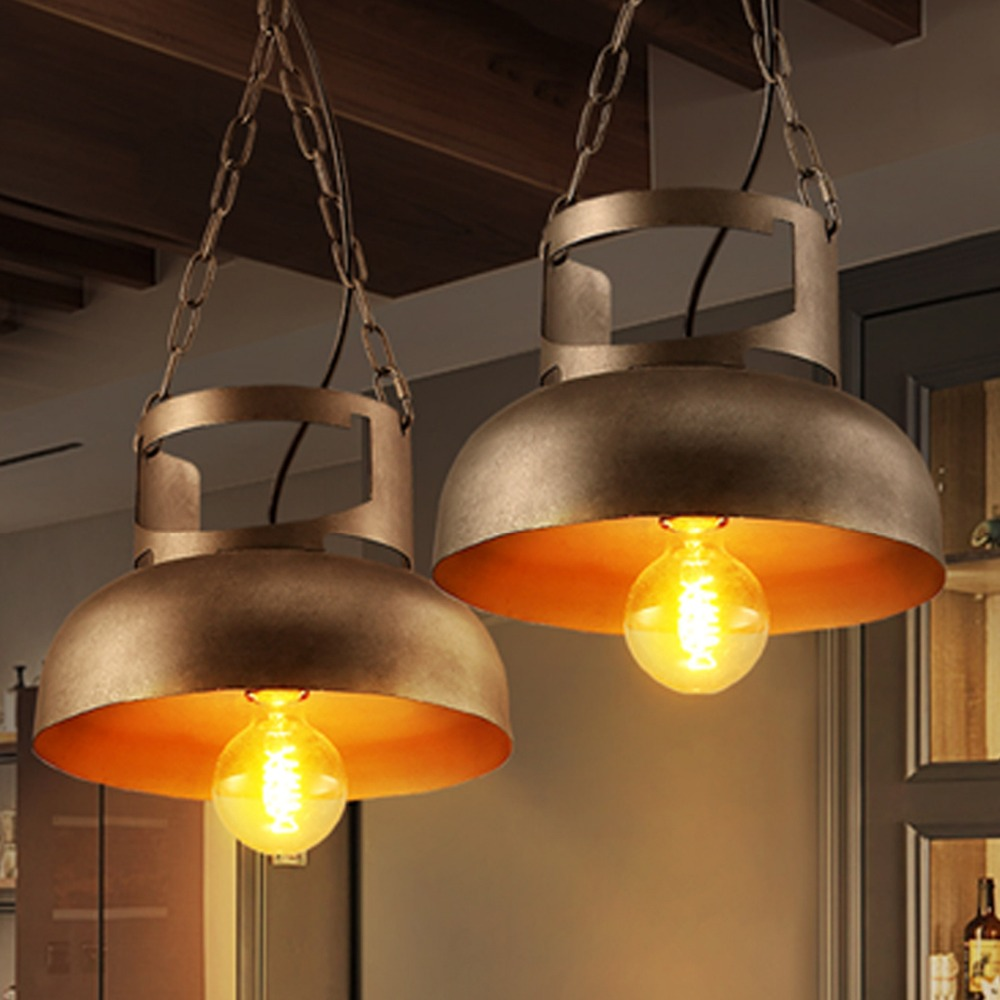 Loft Industrial Retro Pendant lamp Restaurant Bar Cafe Iron Tank Style Creative Personality Hotel  Chandelier free shipping loft style iron pendant lamp creative industry restaurant bar cafe personality studio gear 2 head pendant lights
