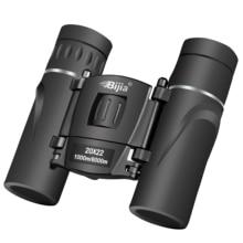 BIJIA HD 20×22 Binoculars Professional Hunting Mini Folding Pocket Telescope BAK4 FMC Optics High Quality Vision Outdoor Gifts