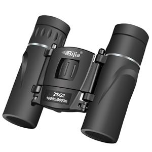 Image 3 - BIJIA HD 20x22 Binoculars Professional Hunting Mini Folding Pocket Telescope BAK4 FMC Optics High Quality Vision Outdoor Gifts