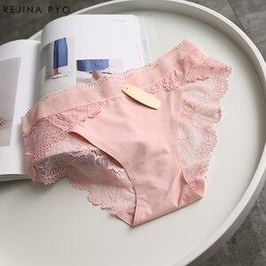 Image 4 - BIAORUINA Sexy Panties Komfortable Briefs Exquisite 4 Stück Shorts Solide Dessous Sexy Spitze Aushöhlen Atmungsaktive Unterwäsche