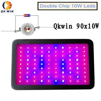 Doule чип 900 Вт светодиодный свет для выращивания 90x10 Вт гидропомическое освещение 220 Вт истинная мощность полный спектр для гидропоники посад...