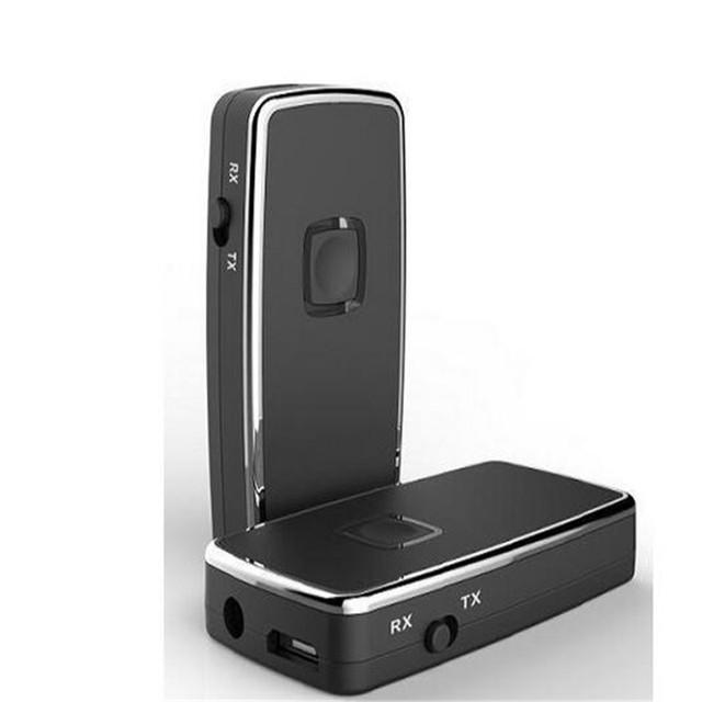 2-em-1 sem fio Bluetooth Música Adaptador Receptor e Transmissor Estéreo Adaptador Dongle para TV iPod Mp3 Mp4