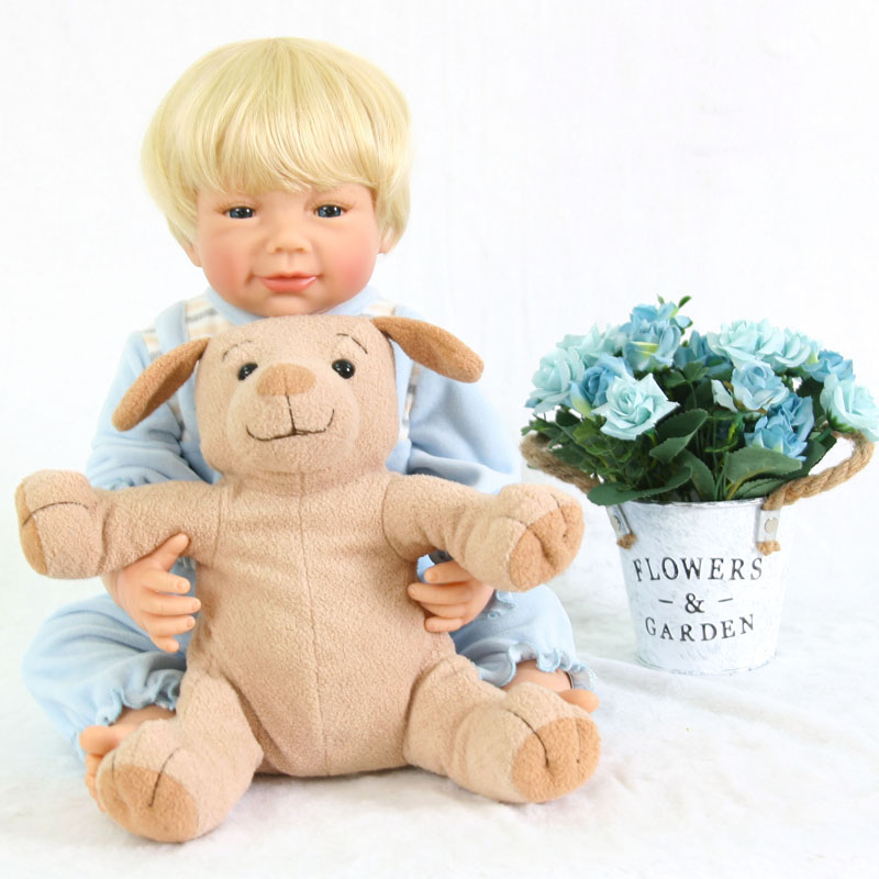 55cm Full Body Silicone Reborn Baby Boy Doll Toy For Girls ...
