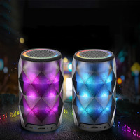 Wireless Bluetooth Speaker Touch Control Colorful LED Built in Mic TF Card Outdoor Stereo Subwoofer AUX and Hands Free Speaker