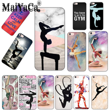 MaiYaCa Love Gymnastics silhouette sports New Fashion phone case cover for iPhone 8 7 6 6S Plus X 10 5 5S SE 5C Coque