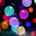 Led lampes solaires boule étanche coloré fée extérieure lumière solaire jardin noël fête décoration solaire chaîne lumières
