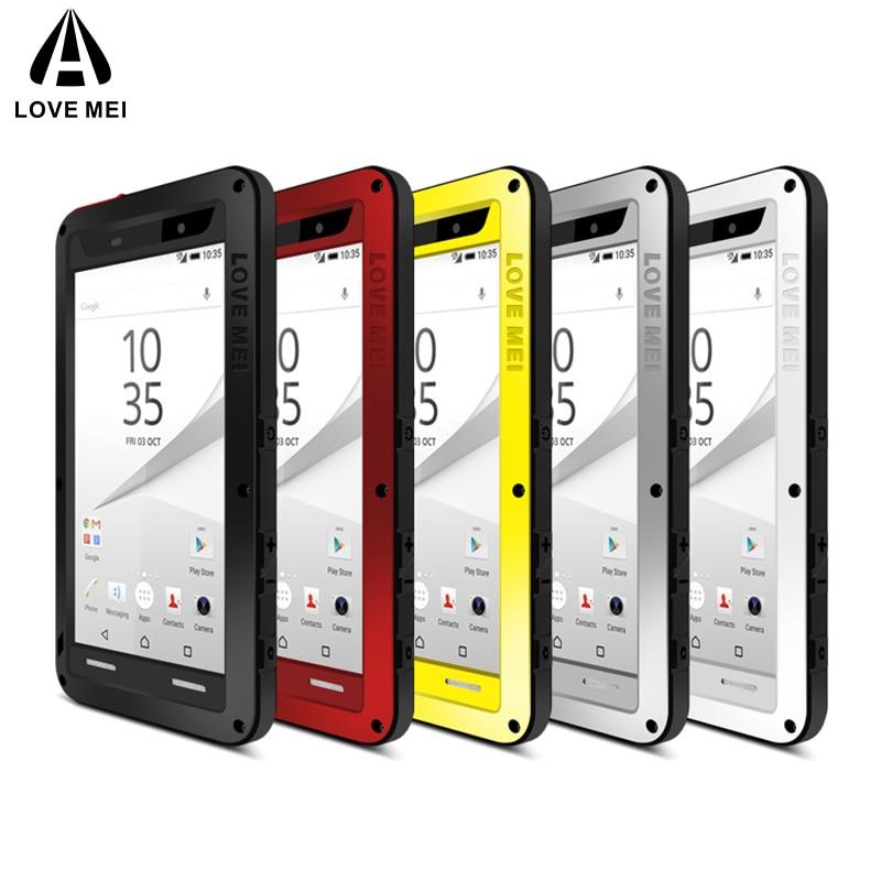 Love Mei funda de aluminio para Sony Xperia Z5 Premium cubierta Armaduras a prueba de golpes caso impermeable para Sony Xperia Z5 Premium fundas