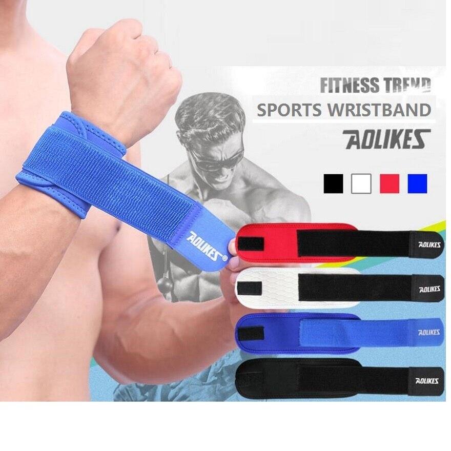 AOLIKES 1 pc High Elasticity Adjustable Wristband Wrist Brace Wrap Bandage /Basketball Badminton etc. Sports Wrist protection