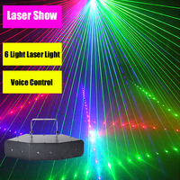 KTV Laser Stroboscope Scan Lights Nightclub Stage Light Voice Control Laser For Disco Birthday Party Laser Stroboscope Led Lamps