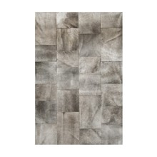 beautiful cow fur skin natural cowhide leather rug Irregular-size tiles of elephant grey color set a relaxing mood
