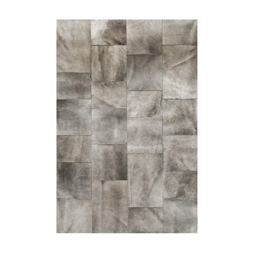 beautiful cow fur skin natural cowhide leather rug Irregular size tiles of elephant grey color set a relaxing mood