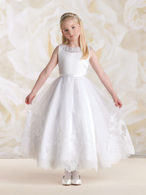 White Flower Girls Dresses For Wedding Gowns Lace Girl Birthday Party Dress Tulle Pageant Dress Long Mother Daughter Dresses a line flower girls dresses for wedding gowns lace girl birthday party dress glitz pageant dresses