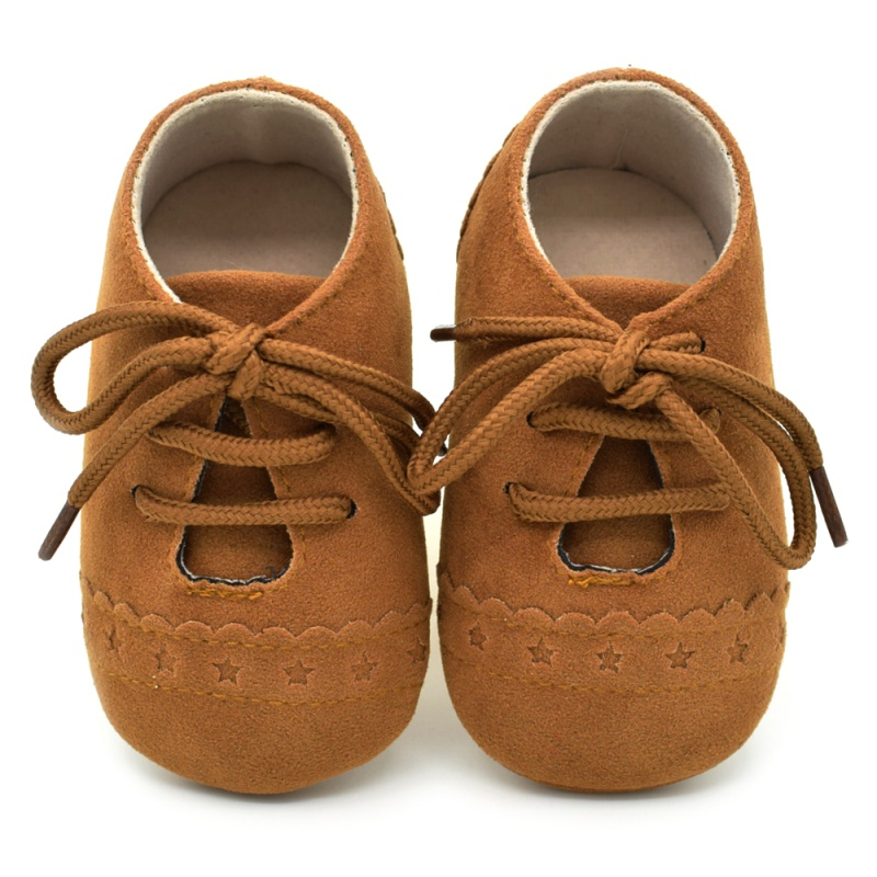 Infant Baby Girls Boys Spring Lace Up Soft Leather Shoes Toddler Sneaker Non-slip Shoes Casual Prewalker Baby Shoes 5