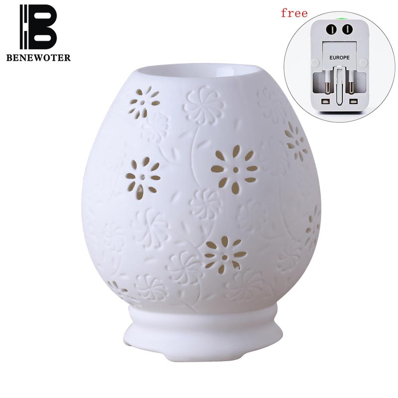 220V Vintage Electric Ceramic Perfume Diffuser Aromatherapy Lamp Burner Essential Oil Heater SPA Yoga Aroma Holder Stove Furnace