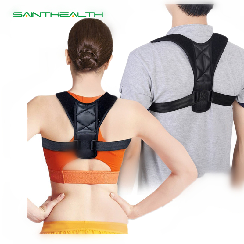 Men Women upper back adjustable spine brace Posture Corrector Scoliosis Shoulder Support Adult Children corset back support belt