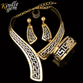 Kindlegem Exquisite Dubai Jewelry Set Luxury Gold Silver Plated Big Nigerian Wedding African Beads Jewelry Set Costume Design