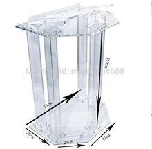 Acrylic Podiums Lecterns Pulpit Dtands Perspex Church Podium Modern Lectern Podium(China)