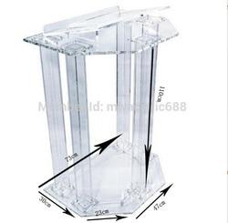 Akrylowe Podium pulpitów ambona Dtands pleksi Podium kościoła nowoczesne mównica Podium w Biurka do recepcji od Meble na